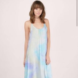 Tobi Watercolor Tie Dye Festival Maxi Dress